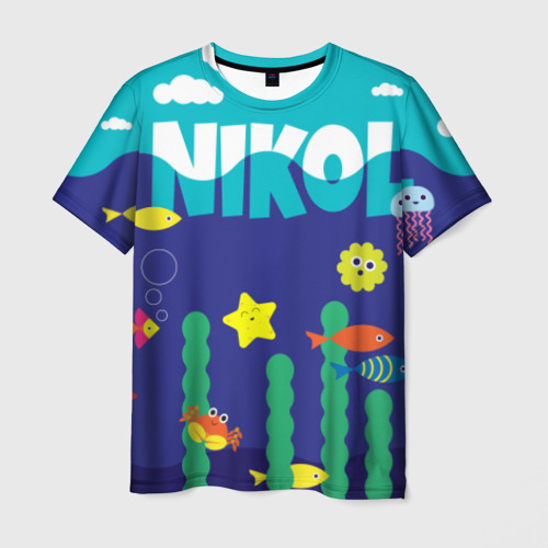 Мужская футболка 3D Nikol Deep Sea
