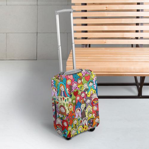 Чехол для чемодана 3D Весёлые матрешки  Фото 01
