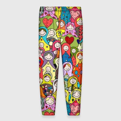 Мужские брюки 3D Весёлые матрешки  Фото 01