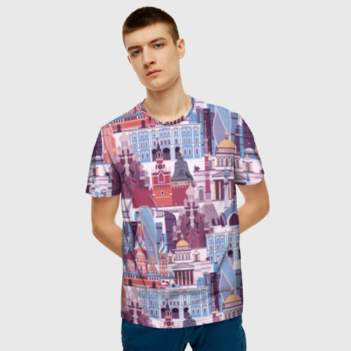 Мужская футболка 3D Москва  Фото 01