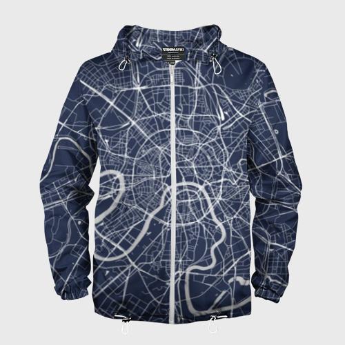 Мужская ветровка 3D Карта Москвы