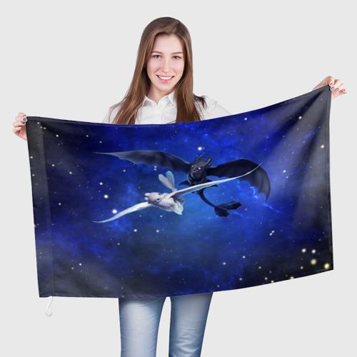 Флаг 3D Night Fury Фото 01