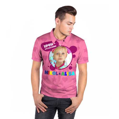 Мужская рубашка поло 3D  Фото 05, Nikol