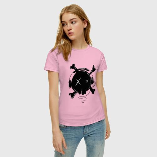 Женская футболка хлопок Skull Music Фото 01