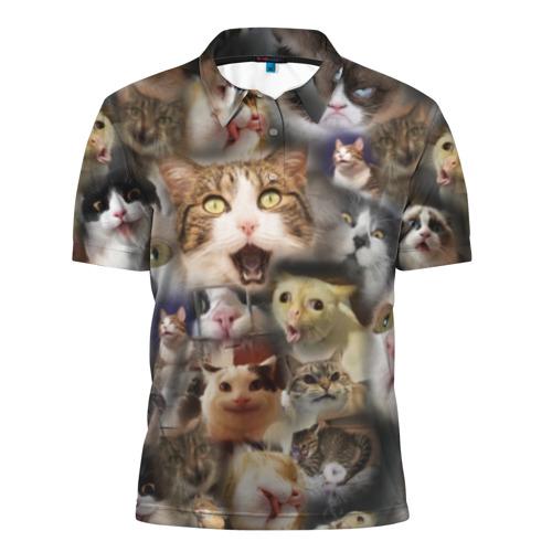Мужская рубашка поло 3D Те самые коты