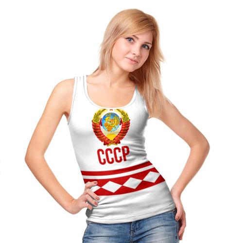 Женская майка 3D СССР Фото 01