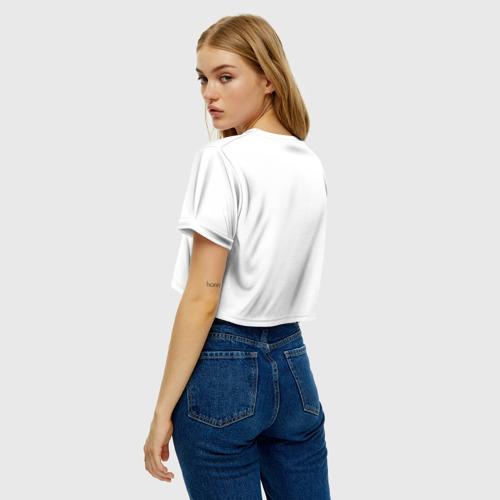 Женская футболка Crop-top 3D Рождение новой жизни Фото 01