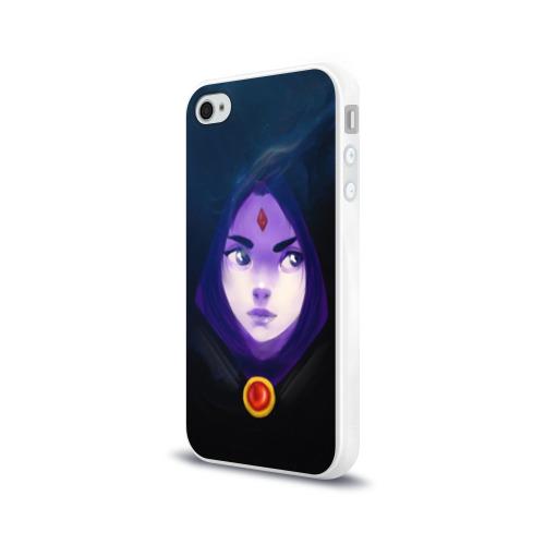 Чехол для Apple iPhone 4/4S силиконовый глянцевый Raven Фото 01