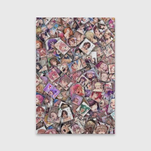 Обложка для паспорта матовая кожа  Ахегао цвет  Фото 01