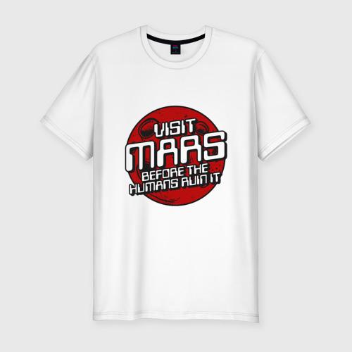 Мужская футболка премиум Посети Марс Фото 01