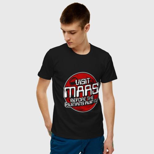 Мужская футболка хлопок Посети Марс Фото 01