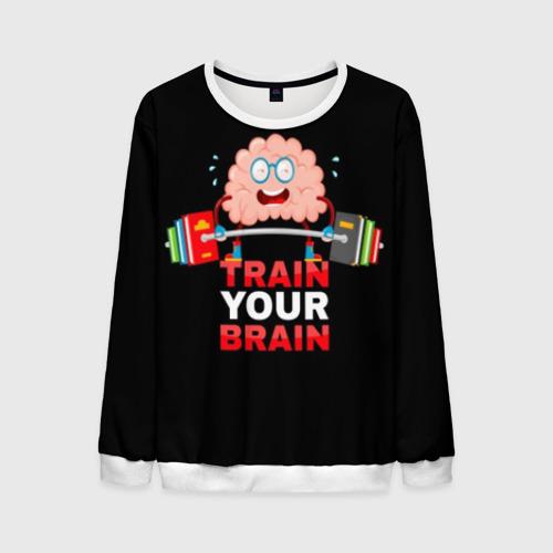 Мужской свитшот 3D Train your brain Фото 01