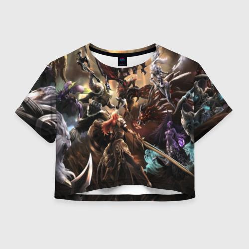 Женская футболка Crop-top 3D League of legends Фото 01