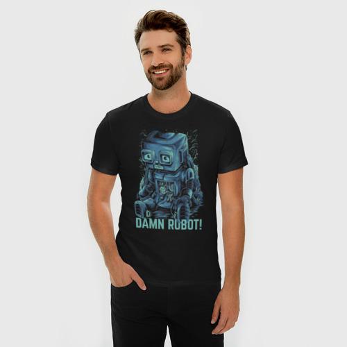Мужская футболка премиум  Фото 03, Робот