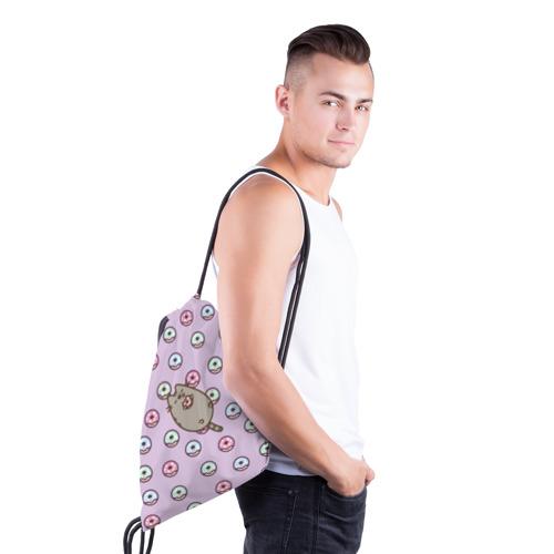 Рюкзак-мешок 3D Pusheen с пончиками Фото 01