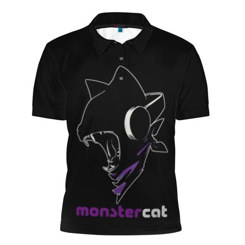 Мужская рубашка поло 3D Monstercat