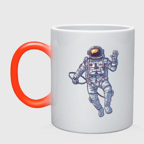 Кружка хамелеон Космонавт BIGSPACE