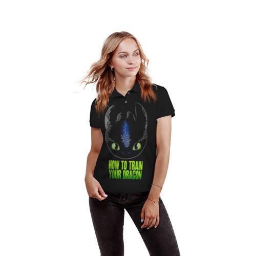 Женская рубашка поло 3D  Фото 03, Как приручить дракона