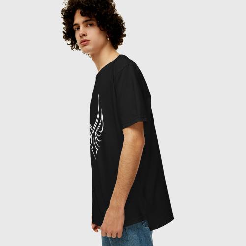 Мужская футболка хлопок Oversize Мистическая сова Фото 01