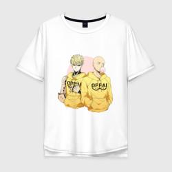 Мужская футболка хлопок OversizeGenos and Saitama