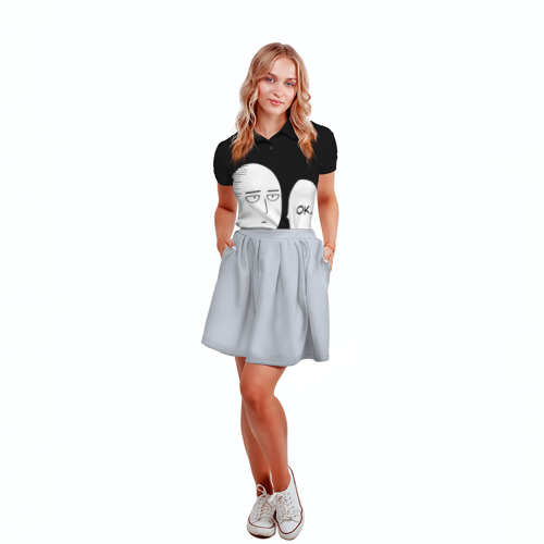 Женская рубашка поло 3D One Punch Man Фото 01