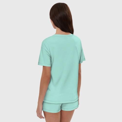Женская пижама с шортиками хлопок Лапша Фото 01