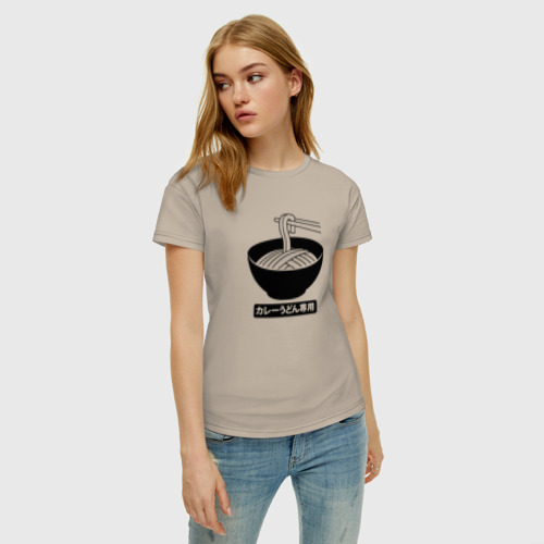Женская футболка хлопок Лапша Фото 01