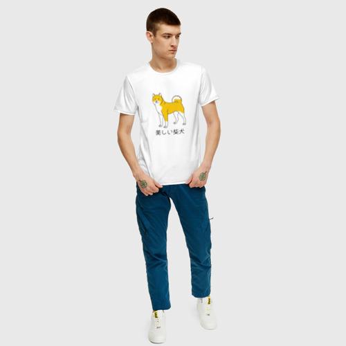 Мужская футболка хлопок Shiba Dog Фото 01