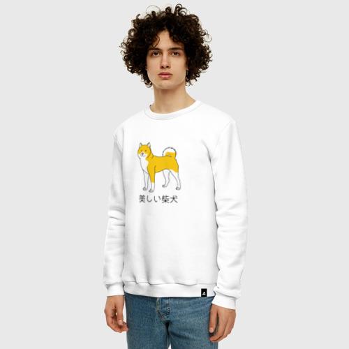Мужской свитшот хлопок Shiba Dog Фото 01