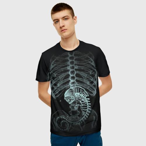 Мужская футболка 3D Чужой на Рентгене  Фото 01
