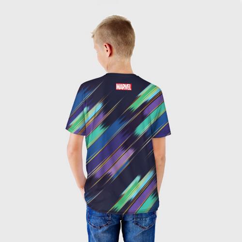 Детская футболка 3D  Фото 02, Avengers logo with stripes