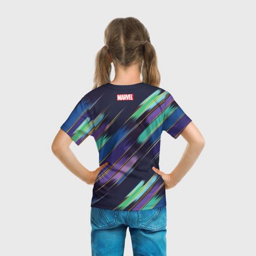 Детская футболка 3D  Фото 04, Avengers logo with stripes