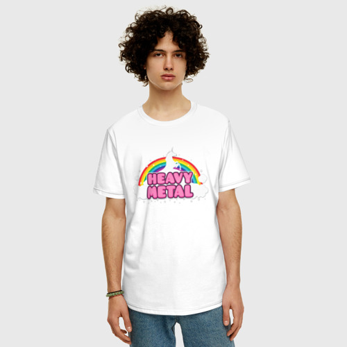 Мужская футболка хлопок Oversize Хеви метал Фото 01