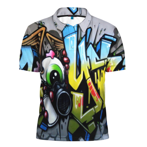 Мужская рубашка поло 3D GRAFFITI