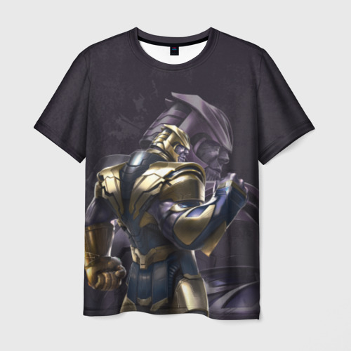 Мужская футболка 3D Thanos dark