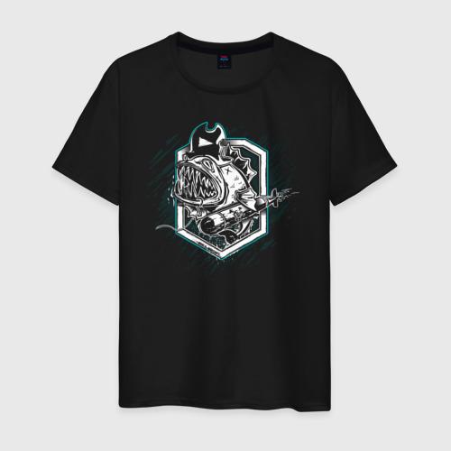 Мужская футболка хлопок Piranha