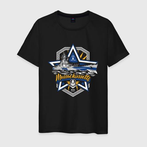 Мужская футболка хлопок Massachussetts