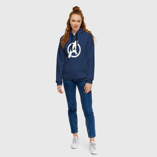 Женская толстовка хлопок Avengers logo white Фото 01