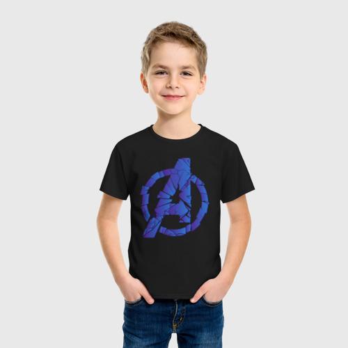 Детская футболка хлопок Avengers logo blue Фото 01