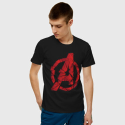 Avengers logo red