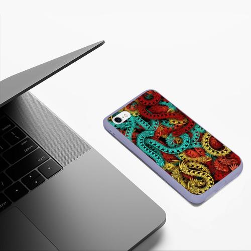 Чехол для iPhone 6/6S матовый Кетцалькоатли Фото 01