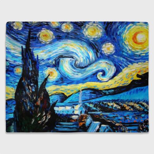 "Плед 3D \""Звездная ночь\"" Ван Гог Фото 01"