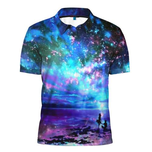 Мужская рубашка поло 3D Романтика