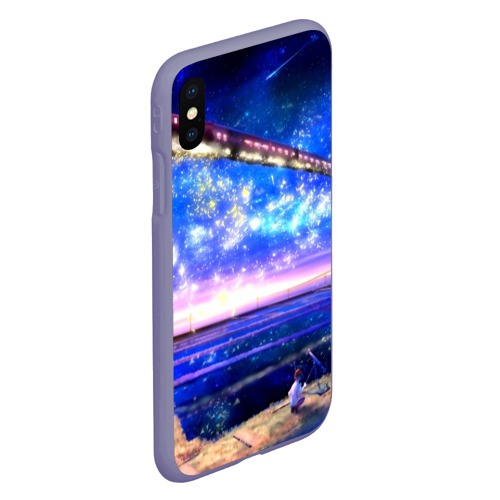 Чехол для iPhone XS Max матовый Космос Фото 01