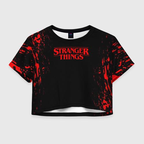 Женская футболка Crop-top 3D STRANGER THINGS Фото 01