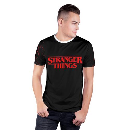 Мужская футболка 3D спортивная STRANGER THINGS Фото 01