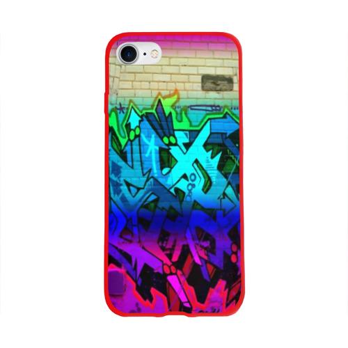Чехол для Apple iPhone 8 силиконовый глянцевый graffiti neon Фото 01