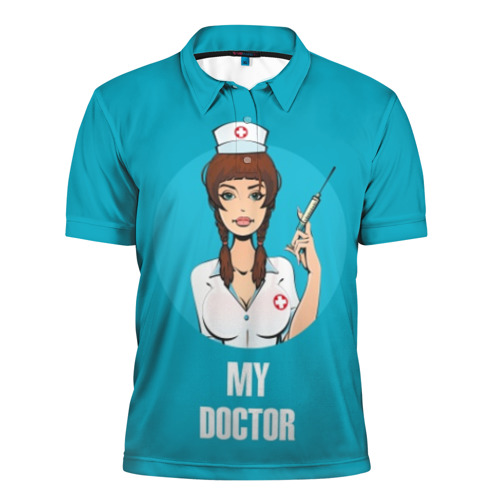 Мужская рубашка поло 3D My doctor