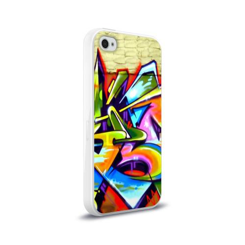 Чехол для Apple iPhone 4/4S силиконовый глянцевый Кислота Фото 01
