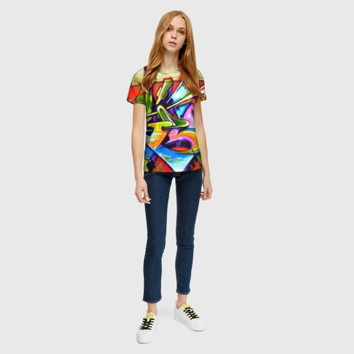 Женская футболка 3D Кислота Фото 01